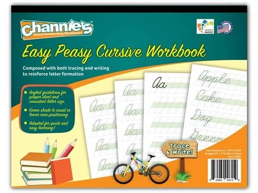 Channie's Easy Peasy Cursive Workbook