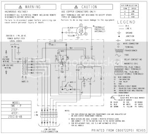 Transformer wiring on a Trane 2TEC3F30A1000AA