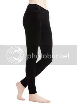 city adventure crushed velvet leggings in black (modcloth)