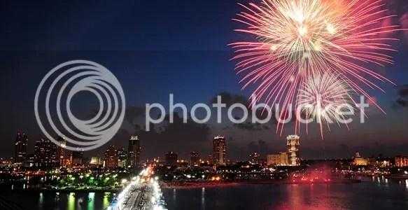 St. Petersburg FL fireworks