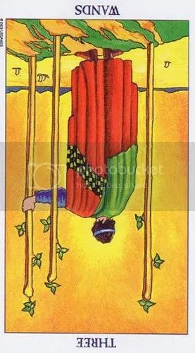 Three of Wands reversed