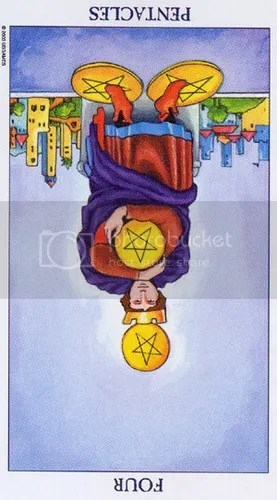 Four of Pentacles reversed