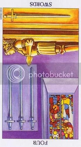 Aquarius - Four of Swords reversed