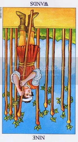 Leo - Nine of Wands reversed