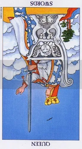 Aquarius - Queen of Swords reversed