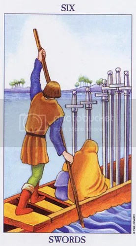 Gemini - Six of Swords
