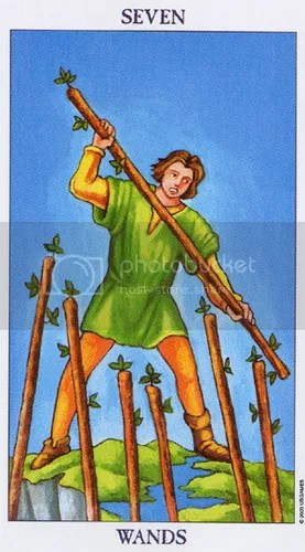 Capricorn - Seven of Wands