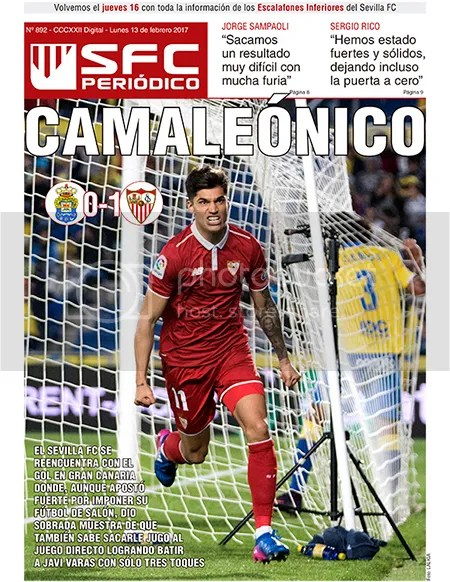 2017-02 13 SFC Peridico Las Palmas 0 Sevilla 1