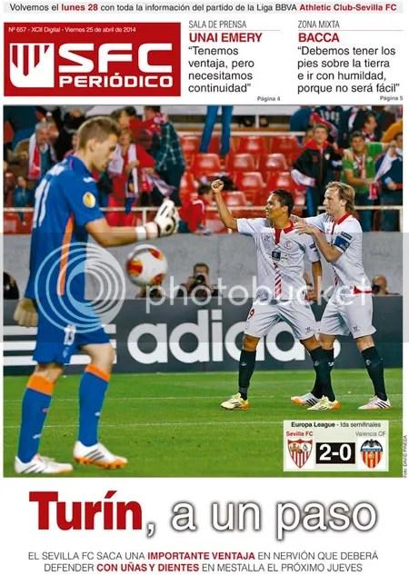 2014-04 (25) SFC Periódico UEFA Europa League Sevilla 2 Valencia 0