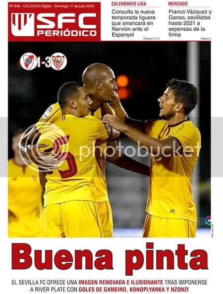 2016-07 (17) SFC Periódico River Plate 1; Sevilla FC 3
