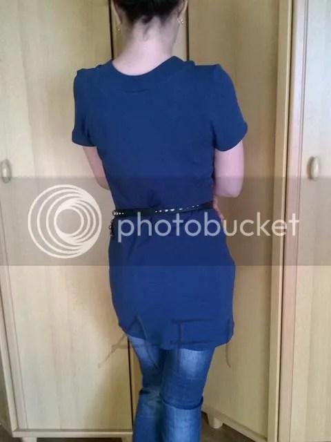 bluză din tricotaj albastru