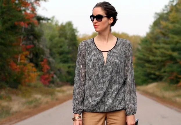 cross front blouse