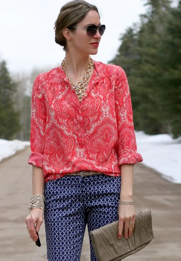 print pattern mixing j.crew joe fresh