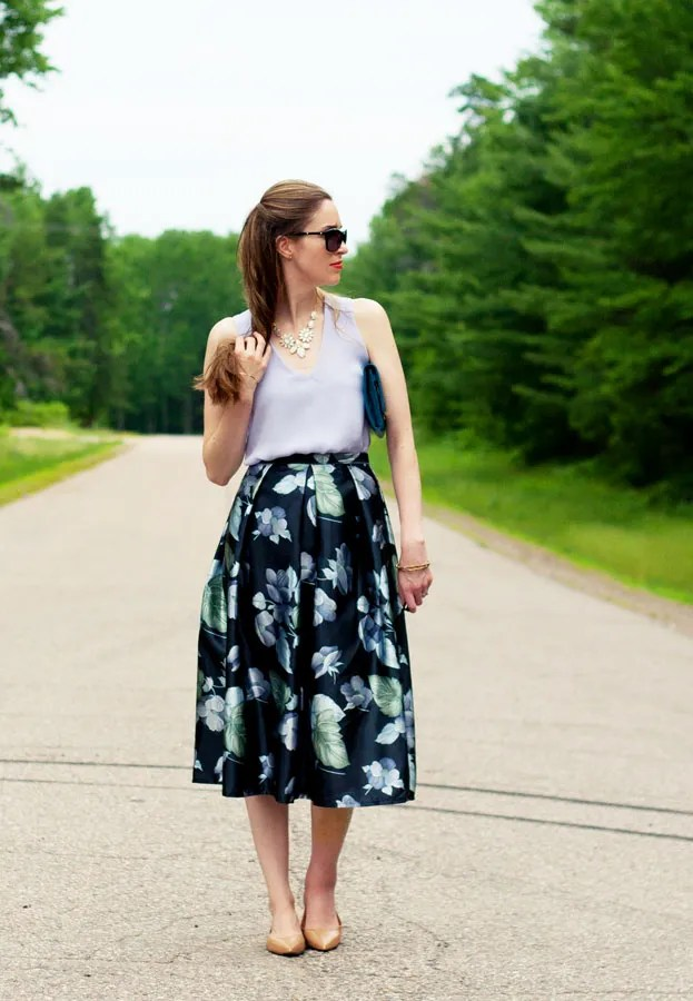 Laura Wears... wedding guest outfit midi skirt