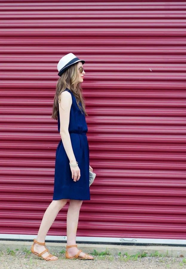 Laura Wears ... white straw fedora