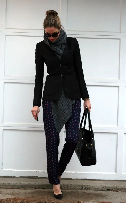 foulard pants for work business