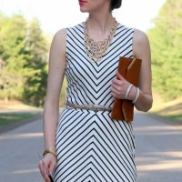 My new favorite stripe ponte dress