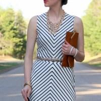 My new favorite stripe ponte dress