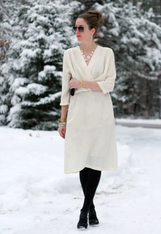 vintage dress winter holiday