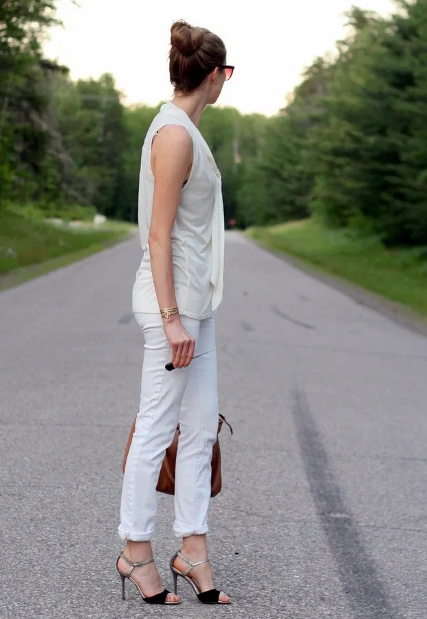 casual outfit white monochrome