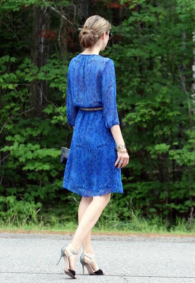 tuxedo bib silk dress