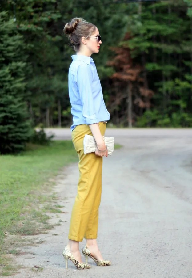 personal style fashion blog yellow and blue outfit