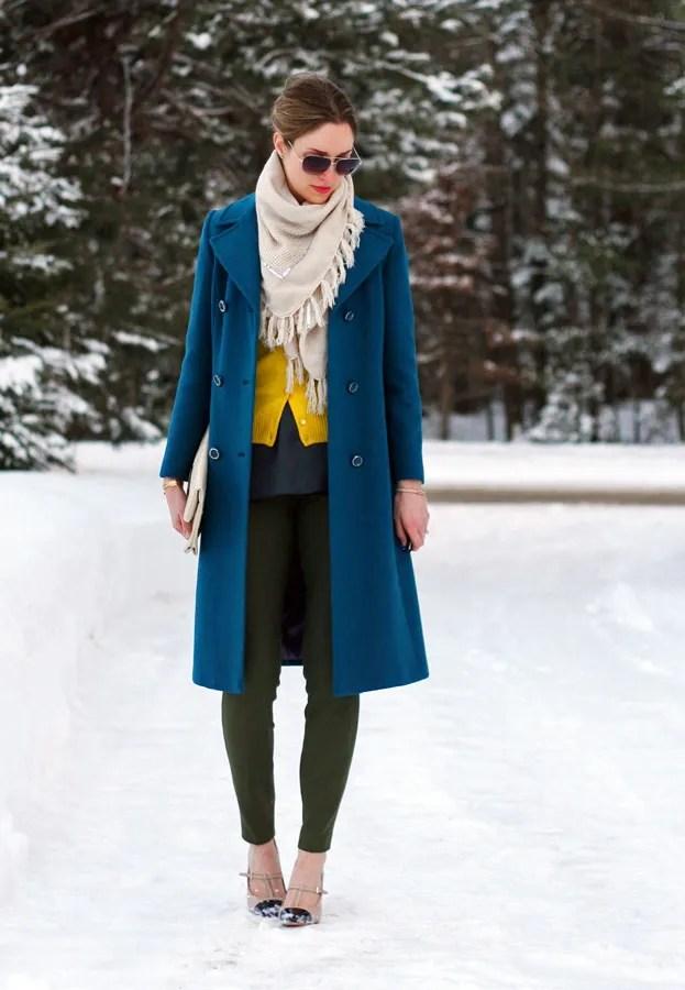 vintage wool coat scarf cashmere