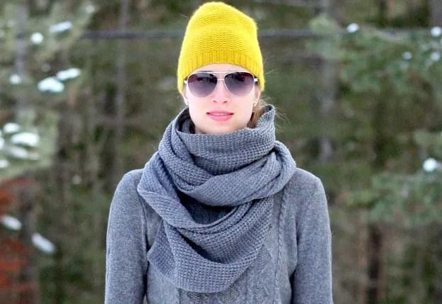 chunky cozy scarf