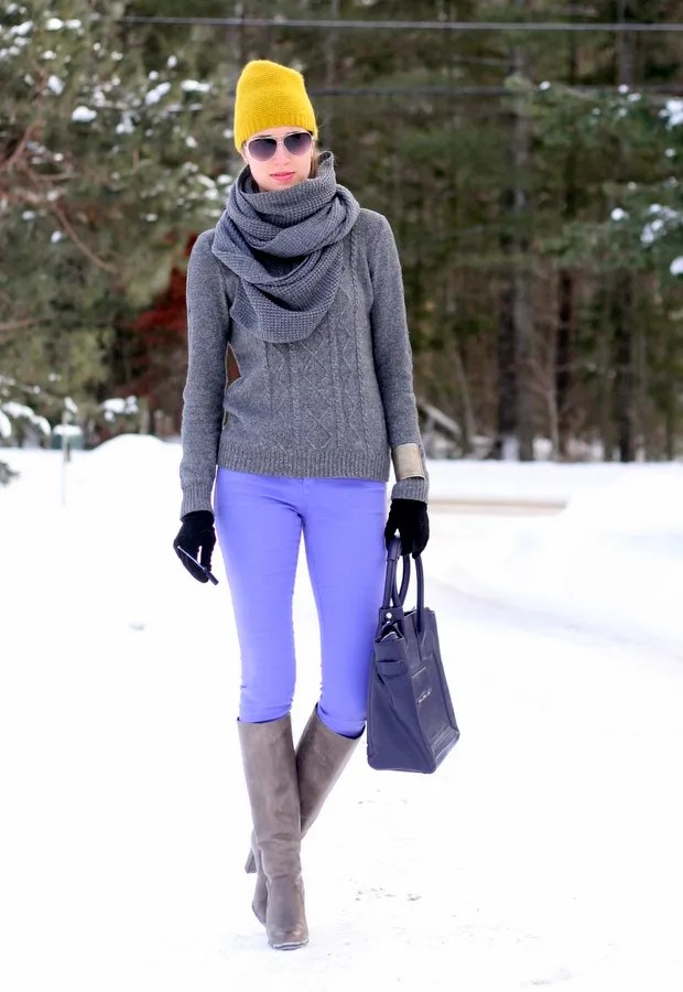 casual canada winter outfit yoga jeans
