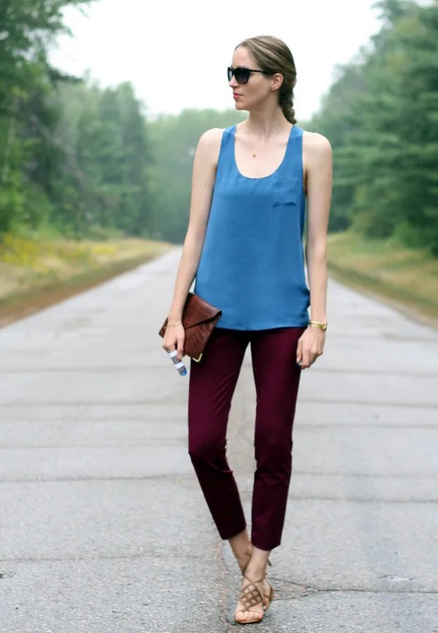 j.crew minnie silk tank