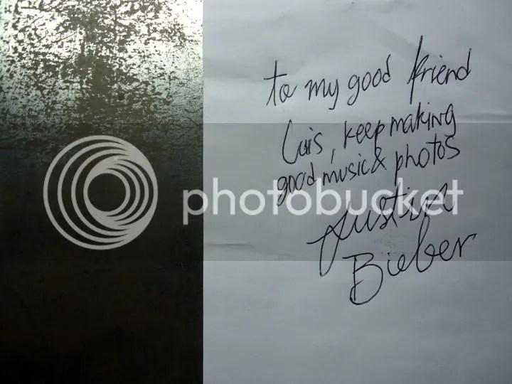 Un autoacutegrafo de Justin Bieber