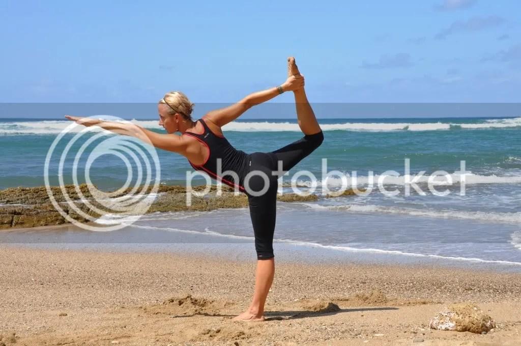 beach fitness photo: Yoga Beach_standing_bow_pose12443606.jpg