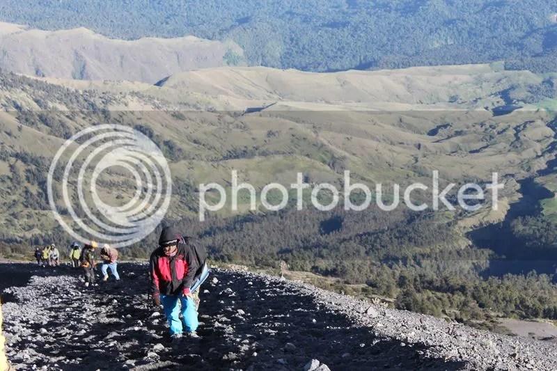 Way to the peak of Mt. Rinjani