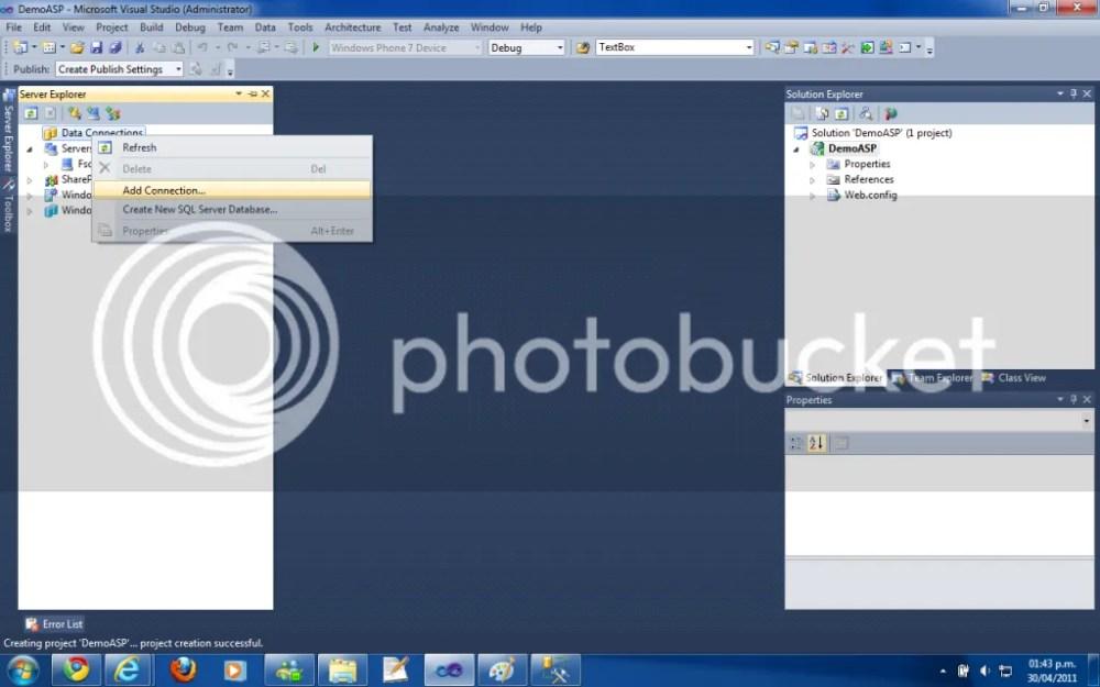 Enlace a datos GridView con Visual Studio Designer ASP.NET  (2/3)