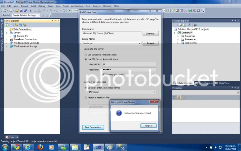 Enlace a datos GridView con Visual Studio Designer ASP.NET  (3/3)