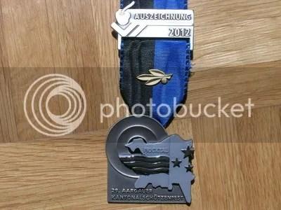 Medalla Campeonato Kantonal de Tiro