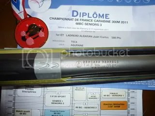 Medalla de Oro Campeonato de Francia Fusil 300m