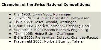 Campeones de tiro suizos con Tanner