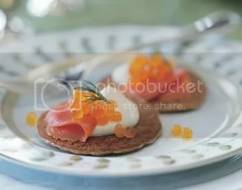 Buckwheat Blinis with Smoked Salmon and Crème Fraîche