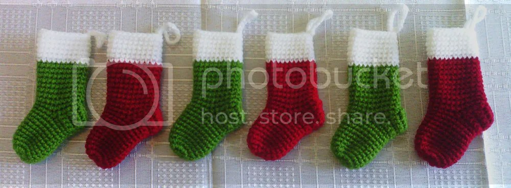 Crocheted Miniature Christmas Stocking Free Pattern Tales Of