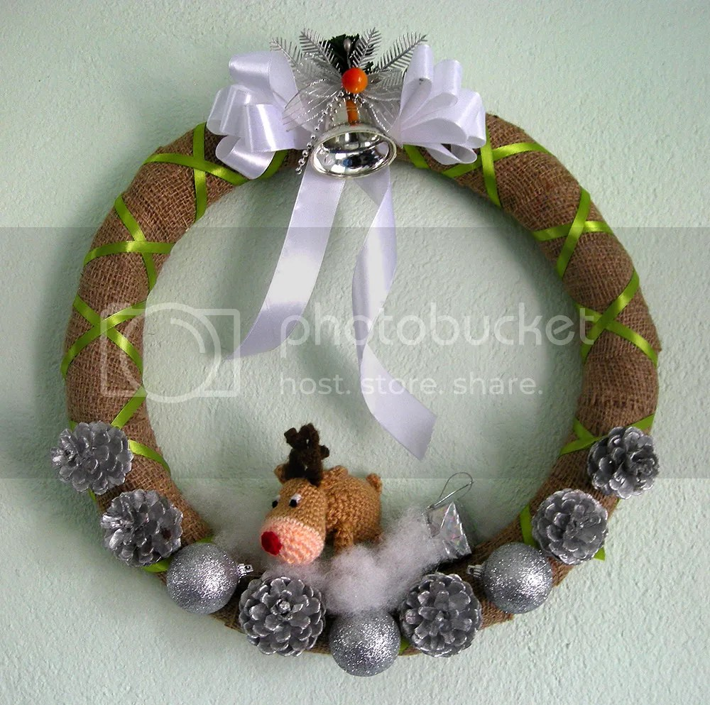 DIY Reindeer Wreath