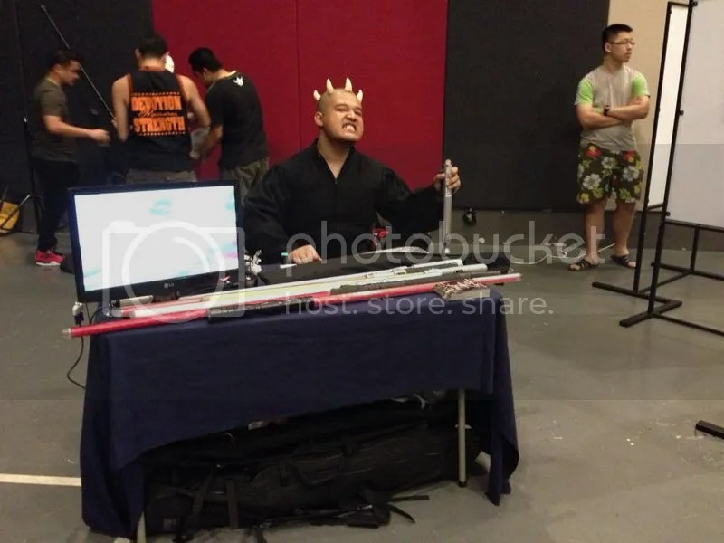 Darth Zednar at FightSaber's booth