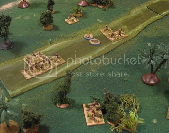 Marauder infantry attempts to cross to the aid of the I&R platoon
