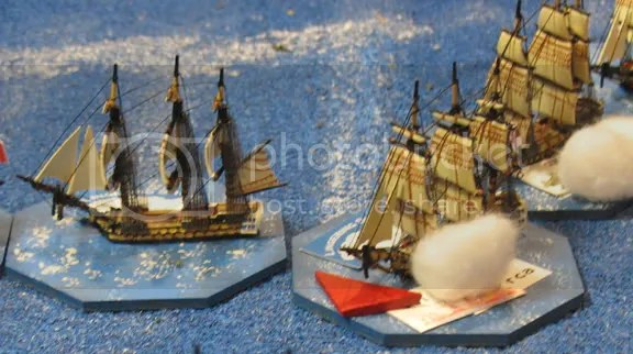 Some of the excellently painted and rigged ships in the game