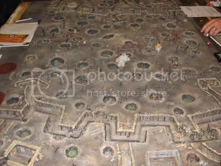 Excellent WWI terrain board used for 28mm trench raids