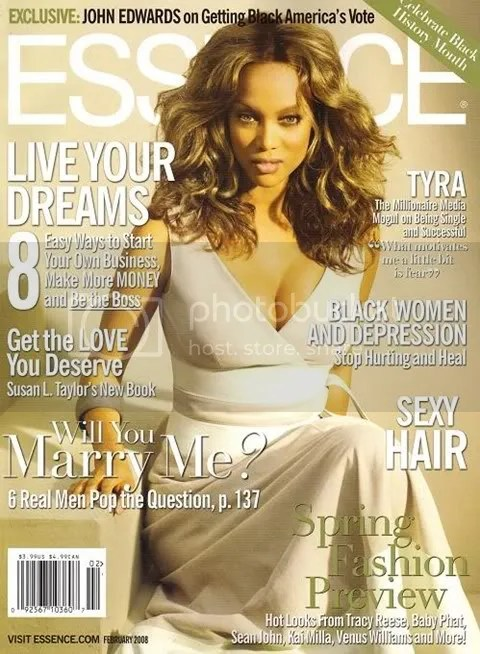 Is Tyra banks really black? Or really white? Hmmm?