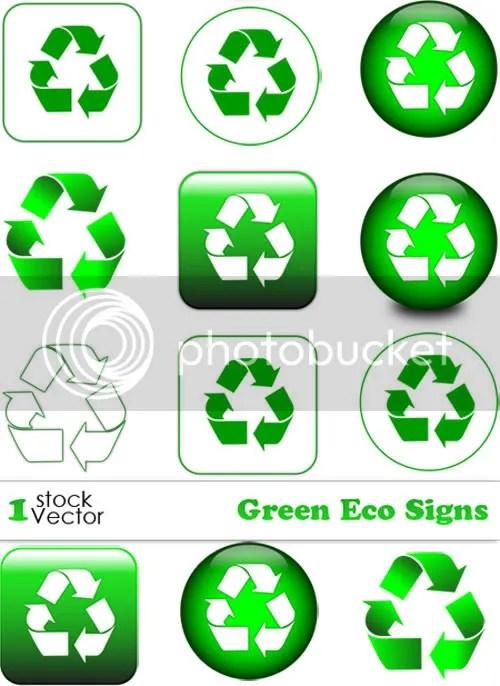 Stock Vectors - Green Eco Signs