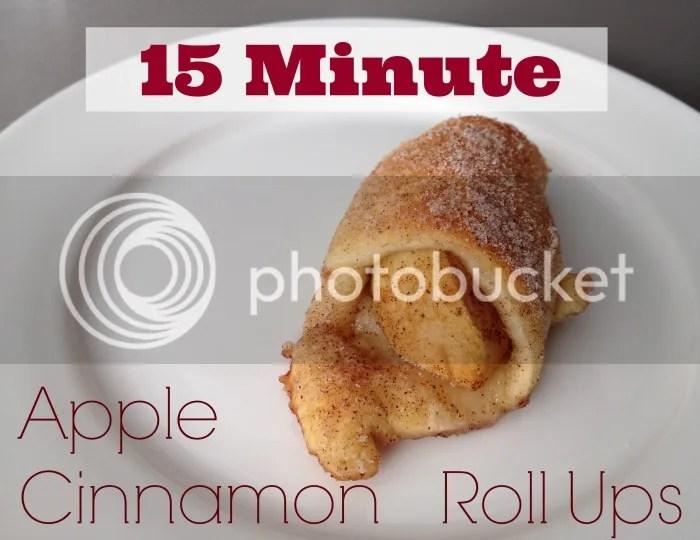 15 Minute Apple Cinnamon Roll Ups Recipe
