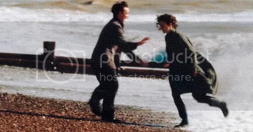 atonement, robbie and cecilie on the beach