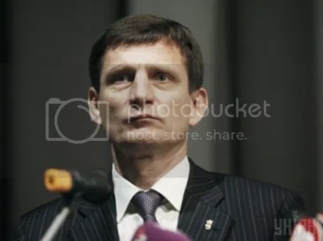 Oleksandr Sych, deputy Prime Minister of Ukraine for the neofascist Svoboda party